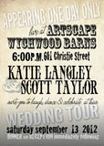 Classic Retro Rock Music Poster Wedding Invitation Set | Natural Paper | Country Chic - idowithyouweds