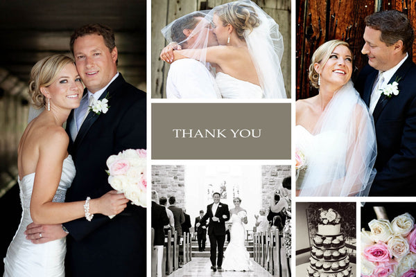 Wedding Thank You Photos Keepsake Cards | Photo Collage Wedding Day | Personal Message Love Bride & Groom - idowithyouweds