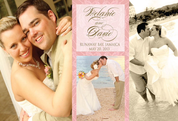 Wedding Thanks Collage | Vintage Gold Blush Pink | Ocean Ceremony Reception - idowithyouweds