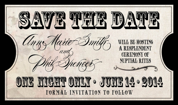 Treasured Days of Old Save the Date | Antique Vintage | Old Paper | Monogram | Natural Paper - idowithyouweds
