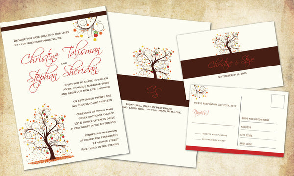 Apple Tree Local Wedding & Reception Set | Early Fall | Rustic Burnt Orange | Leaves n' Branches - idowithyouweds