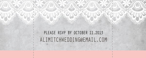 Ticket Local Wedding Invitations | Antique Blush Lace | Vintage Aged Paper | Save the Date | Rustic Country Chic - idowithyouweds
