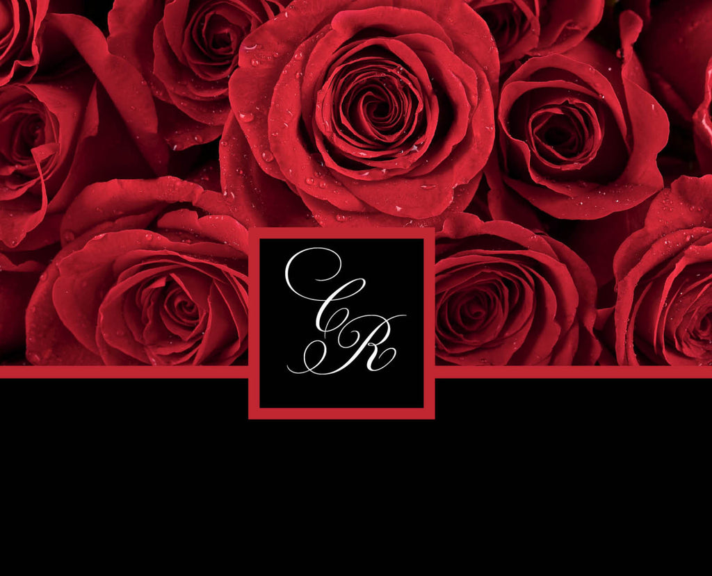 Red Rose Invitations for your Local Wedding | Deep Crimson with ...