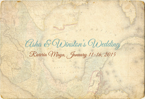 Postcard Program Itinerary | Destination Wedding | Rustic Vintage | Mexico Punta Cana Cabo Fiji - idowithyouweds