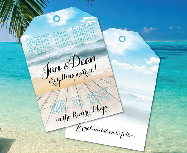 Save the Date Luggage Tag | Destination Weddings | Wedding in Mexico | Punta Cana | Fiji |Caribbean - idowithyouweds