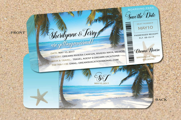 Wedding Boarding Pass Save the Dates - idowithyouweds