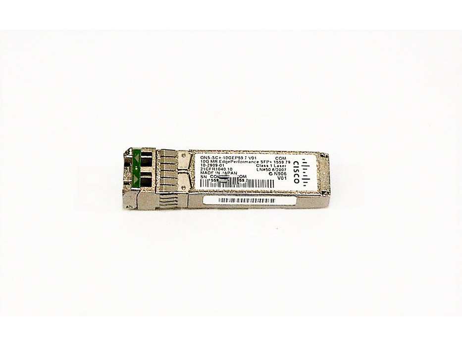 Cisco ONS-SC+-10GEP59.7 10G MR, Edge Performance SFP+ 1559.79, 100 GHz, LC