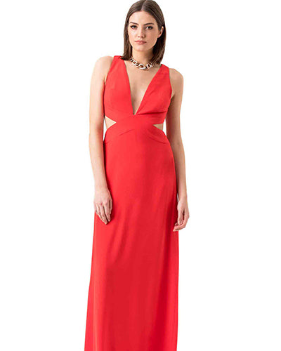 Halston Heritage Red Prom Dress