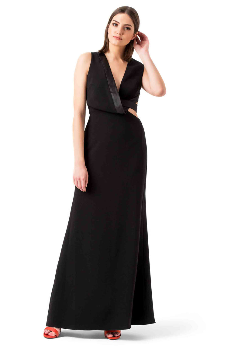 Black Cutout Evening Gown
