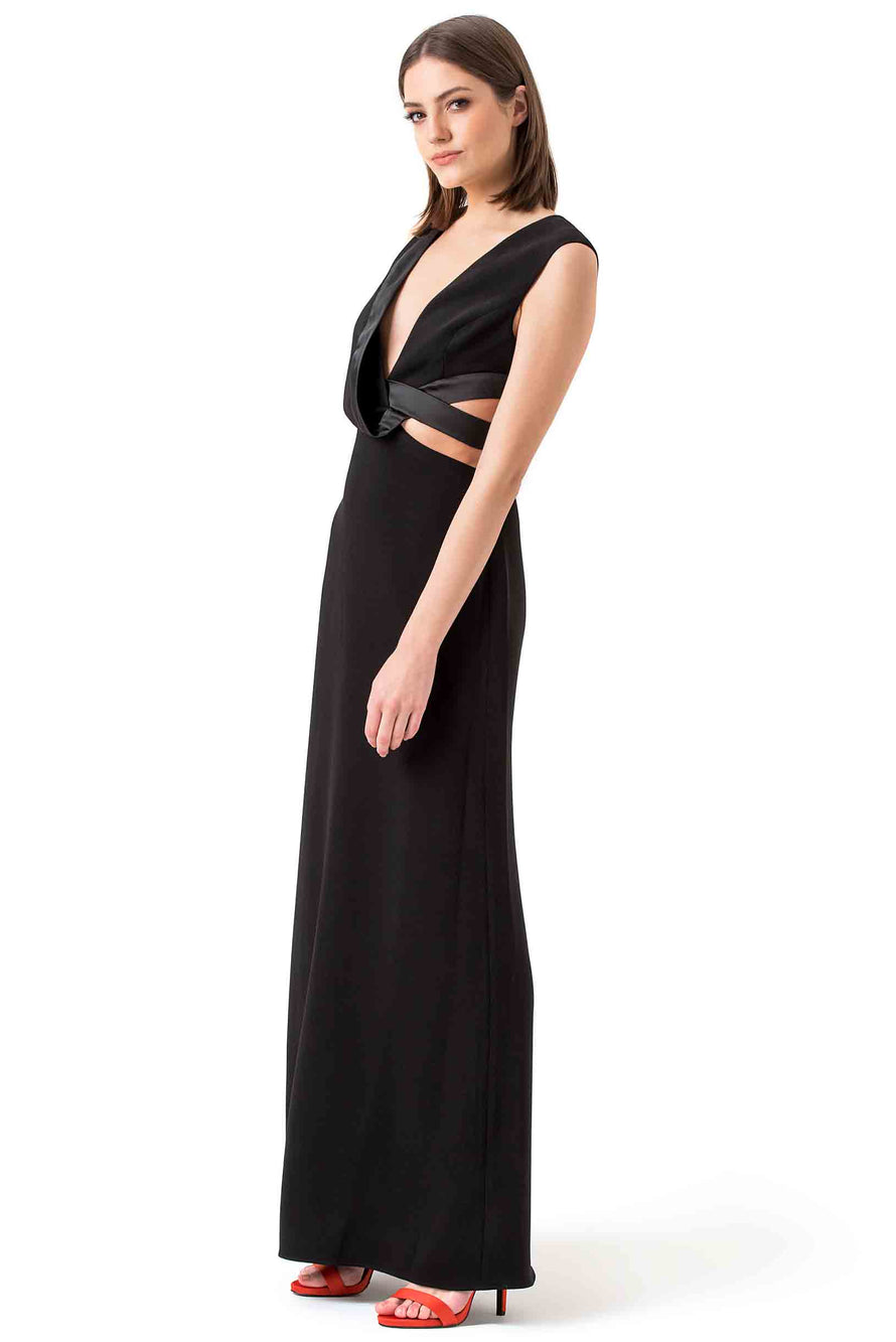 Halston Heritage Black Cutout Evening Gown – Hire That Look