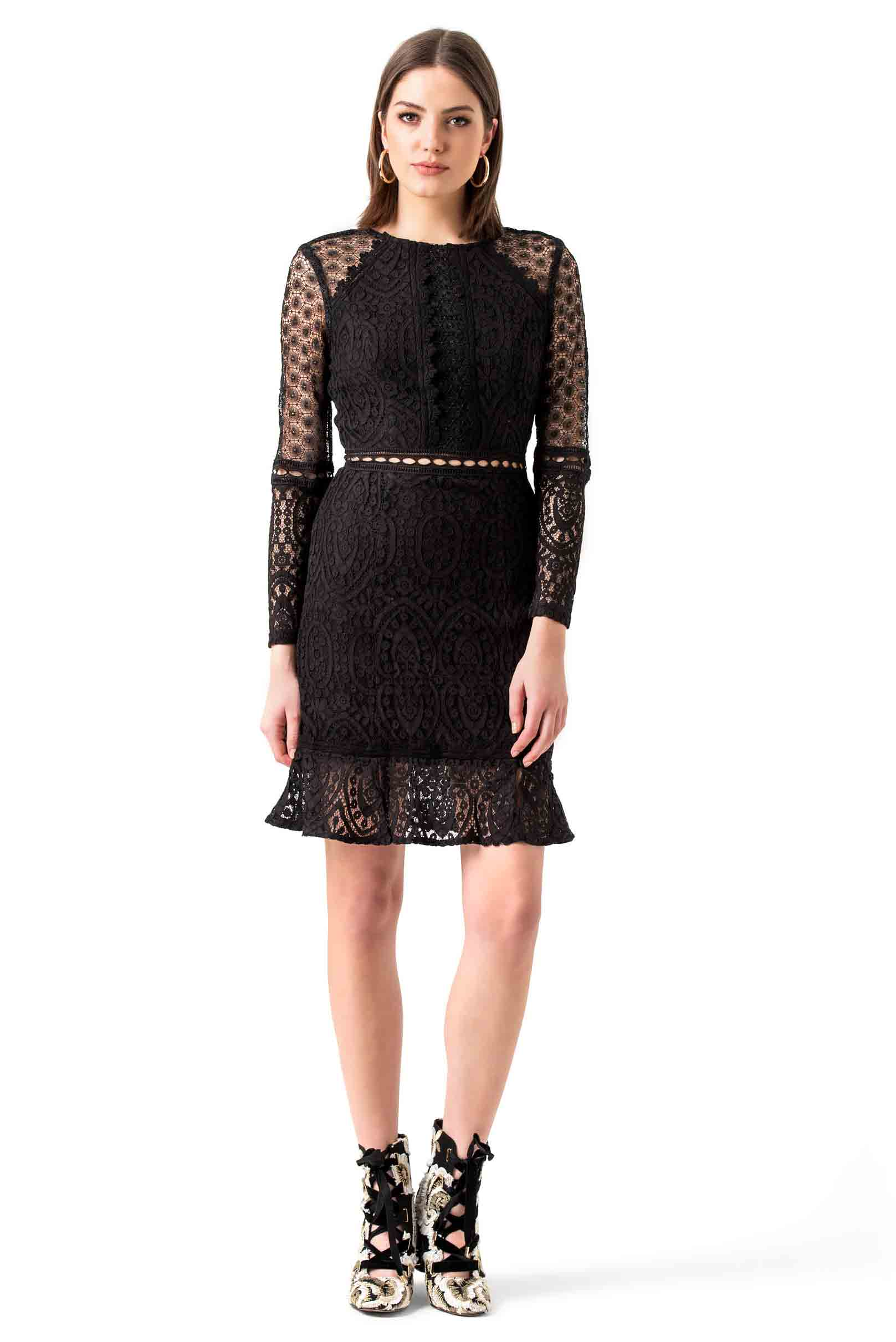 True Decadence Black Mesh Mini Dress