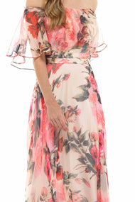 Floral Bardot Maxi Dress