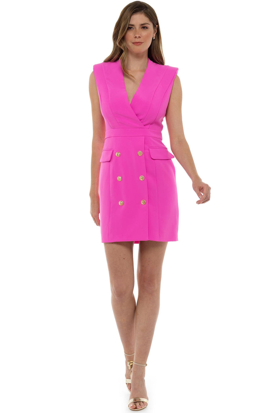 Pink Perla Blazer Mini Dress