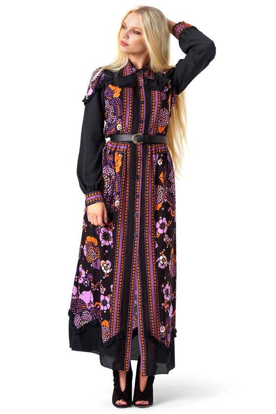 Multicoloured Floral Maxi Dress