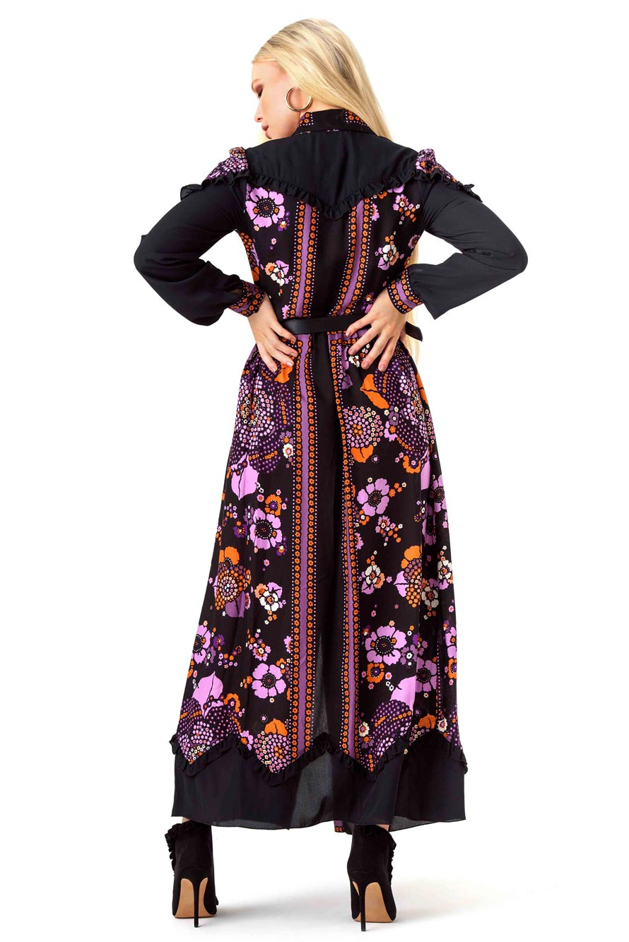 Anna Sui Multicoloured Floral Maxi Dress
