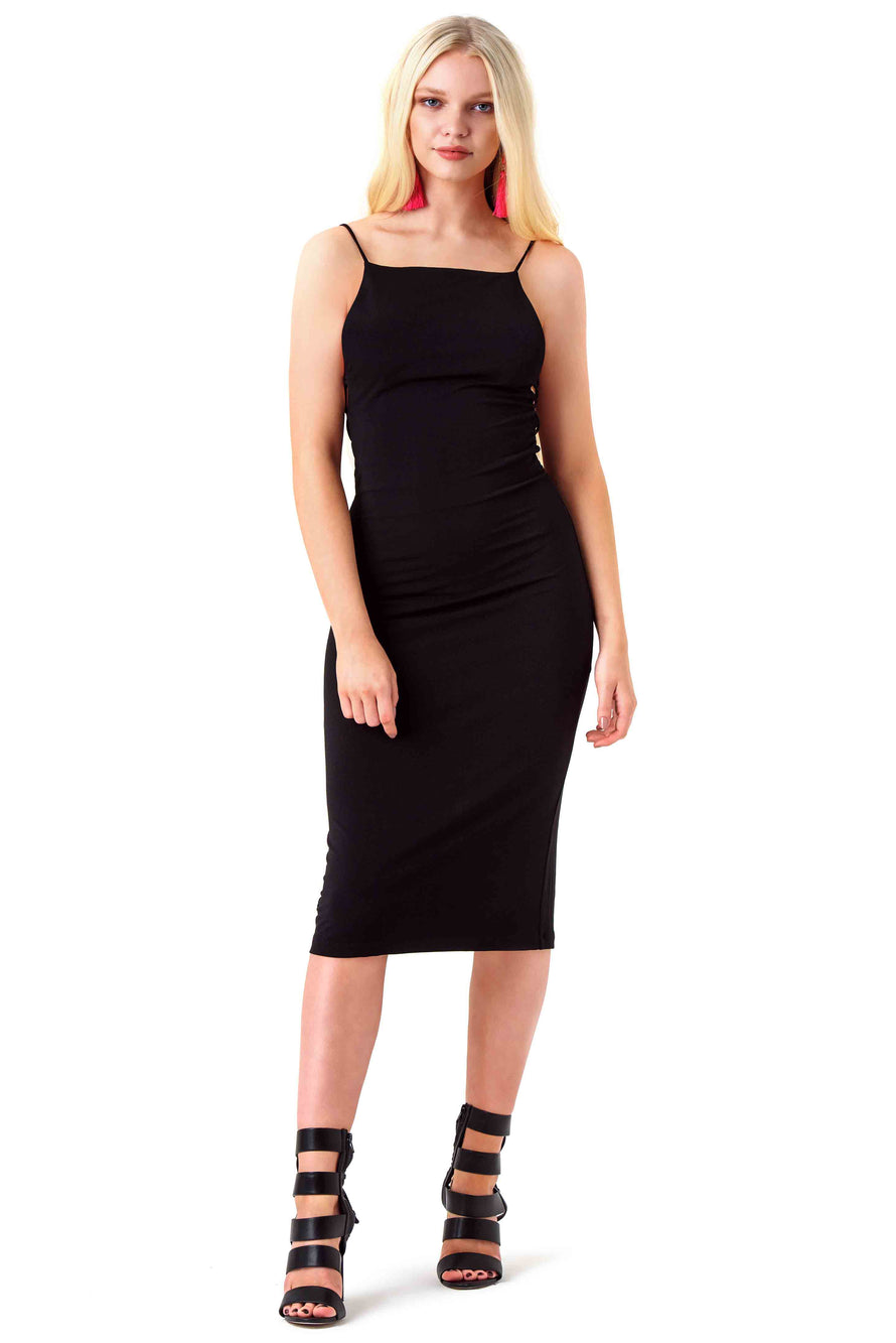 Alice and Olivia Black Bodycon Kia Dress
