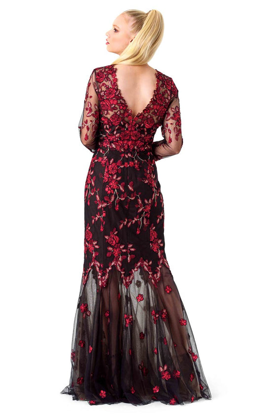 Marchesa Notte Floral Mermaid Gown