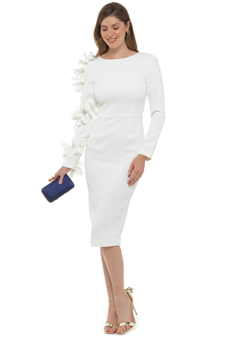 White Garden of Eden Midi Dress