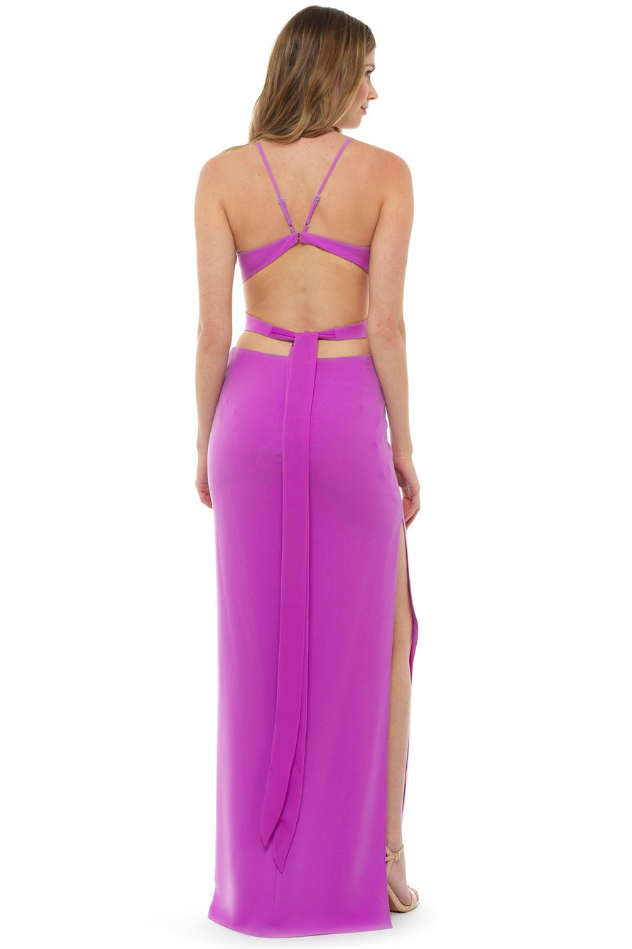 Halston Heritage Pink Cut Out Gown – Hire That Look