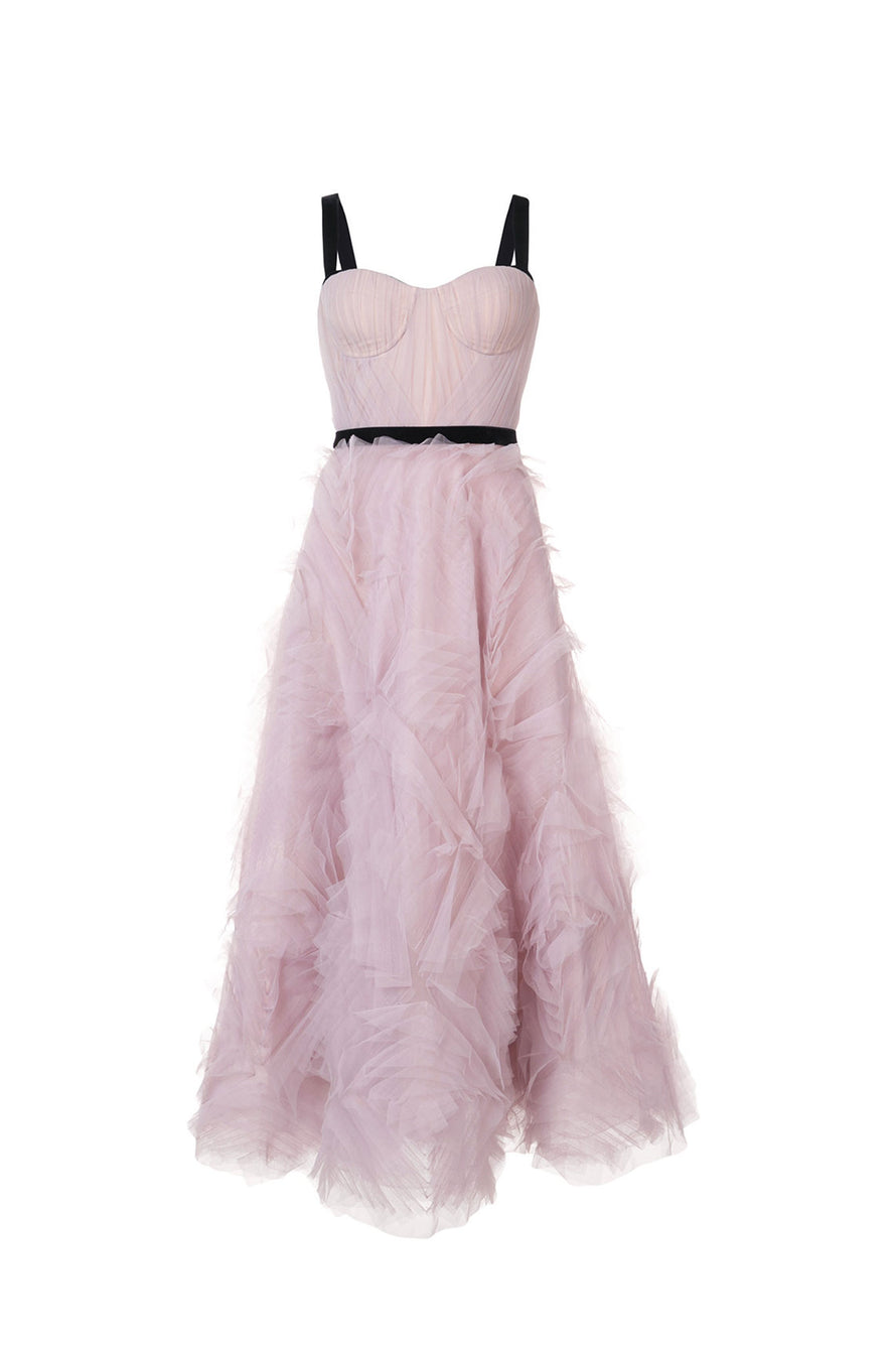 8660384a Embellished Tulle Tea Dress – Hire That Look
