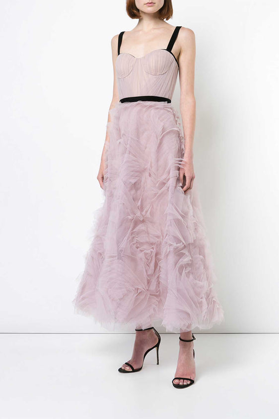 Embellished Tulle Tea Dress