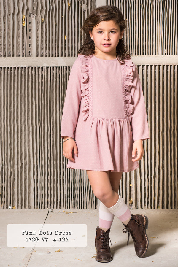 Vestido Rosa con topos/ Pink Dot Dress