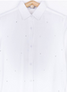 Camisa Nacey Blanca con estrellas plateadas Chica / White shirt with small silver stars mod. Nacey