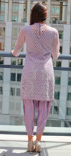 Beaded Net with Tulip Shalwar