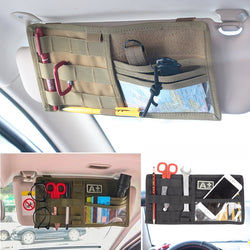 Universal Nylon Gear MOLLE Sun Visor Panel Storage Bag Pouch Car Visor Organizer