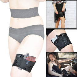 Ambidextrous Concealed Carry Garter Thigh Pistol Holster For Wemen When Wear skirts and dresses