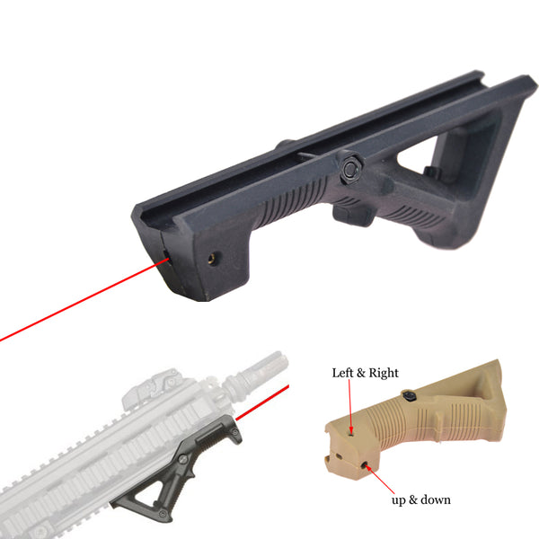 Laser Style AFG 1 PTS Angled Foregrip Hand Guard Grip AFG1  Picatinny Grip