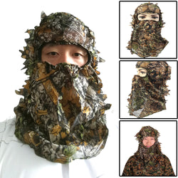 Ultra Light Hunting Camouflage Full Cover 3D Leafy Face Mask One Size Fits Most