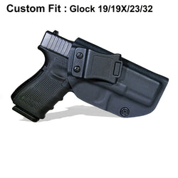 Kydex Holster IWB Holster For Glock 19/19X/23/32(Gen1-Gen5)