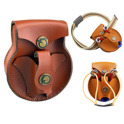 2 in 1 Leather Slingshot Pouch Steel Balls Pouch for Hunting Shooting