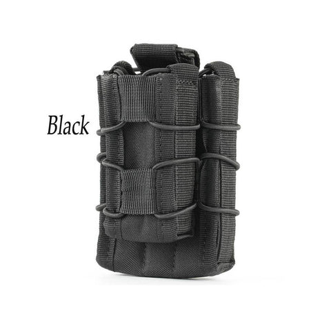 Molle Tactical Open-Top Double Decker M4 with Pistol Magazine Pouch