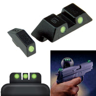 Green Dot Night Sights For Glock 17, 19, 22, 23, 24, 26, 27, 33, 34, 35