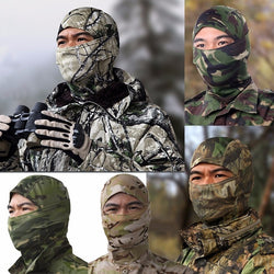 Tactical Training Hunting Airsoft Paintball Camouflage Full Face Mask Balaclava Hat Cap