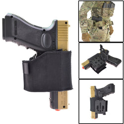 Belt Universal Pistol Holster Holder With Automatic Lock