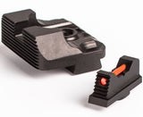 Glock Sight Set - .215 Fiber Optic Front Sight / Rear Combat v3 Black
