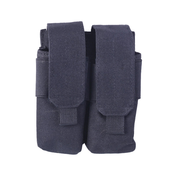 Tactical Double Pistol Mag Magazine Bag Pouch Molle System Pack