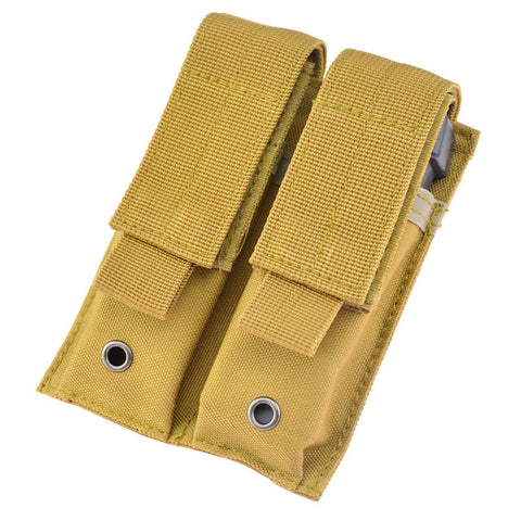 Tactical Molle Double 9mm Pistol Magazine Pouch Bag for Hunting Shooting