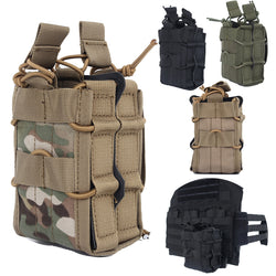 Tactical Molle 5.56 .223 Double Magazine Mag Pouch Holster Bag Military Hunting