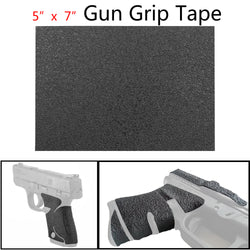 "1Pcs 5""X 7"" Rubber Gun Grips Material Sheet Textured Gun Rubber Grip Tape Black"