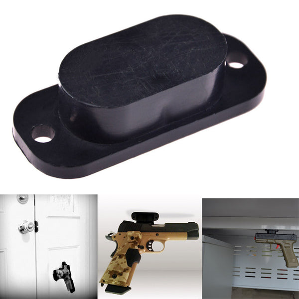 Magnet Concealed Gun Holder for desk bed or under table 25lb Rating