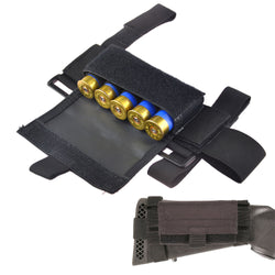 Ambidextrous Tactical Buttstock Shotgun Shell Pouch With Ammo Carrier