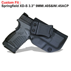 "Kydex IWB Holster For Springfield XD-S 3.3"" 9MM/.40 S&W/.45ACP"