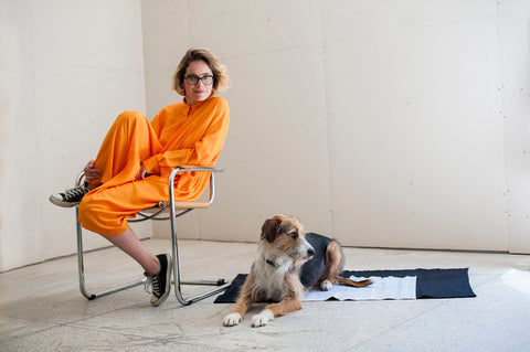 Celia Esteves and dog Xuxo - Rug by GUR
