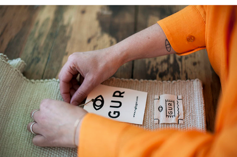 Handmade labels at Rug by GUR