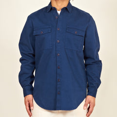 Luso mens heavy cotton shirt navy