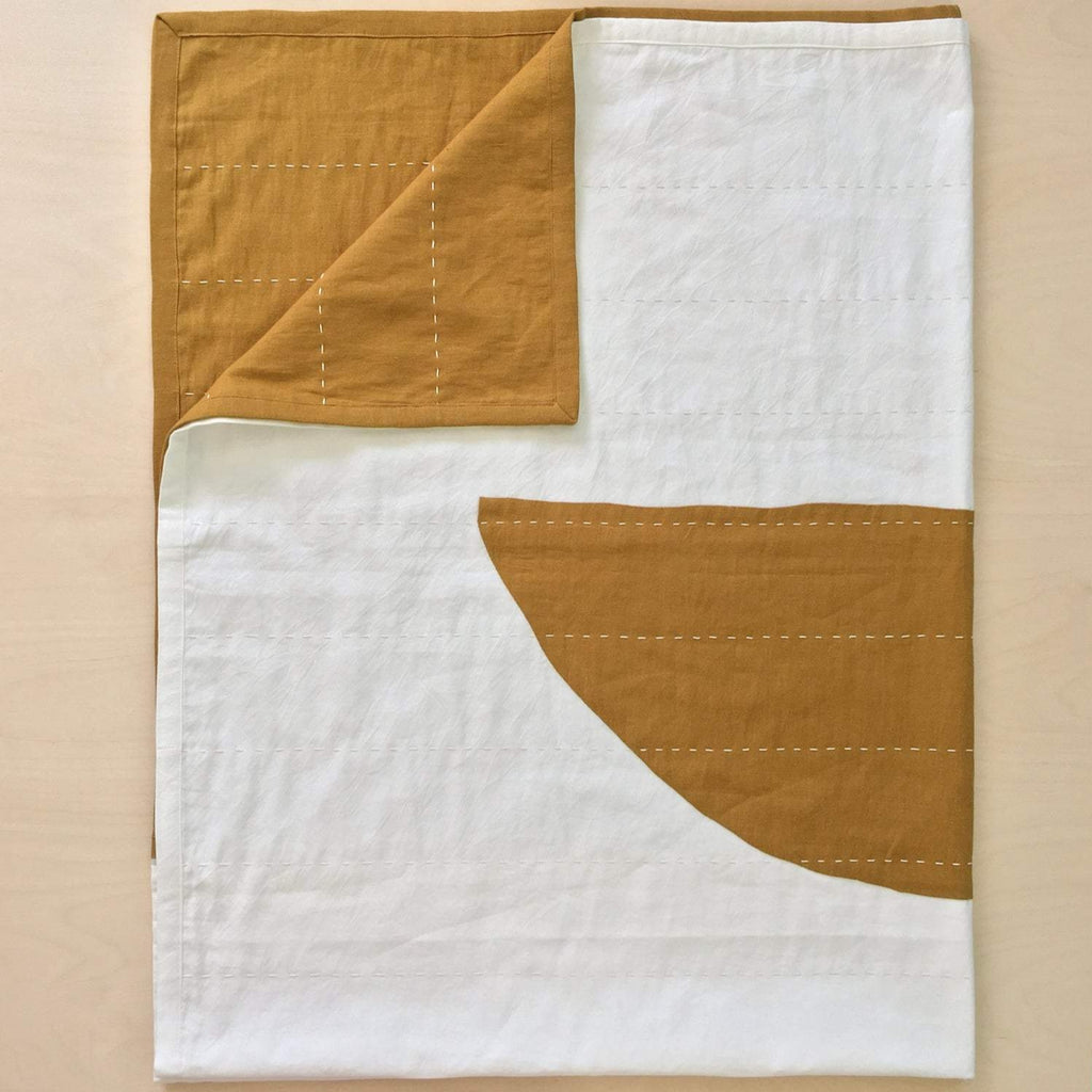 Quilted Throw | Mustard